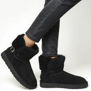 NIB! UGG Karel Buckle Mini Boots